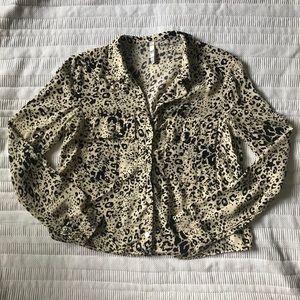 Zara trf animal print blouse